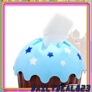 Cupcake Tissue Box Roll Covers Toilet Paper Holder Case