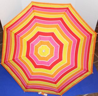 Clamp On Umbrella SPF 50 Rating Multi Color Pink/Yellow/Re d/Orange