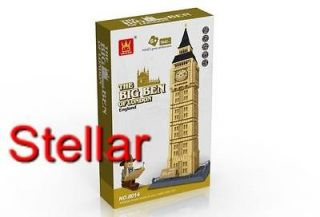England BIG BEN of London BUILDING BLOCKS 1642 pcs set in HUGE GIFT