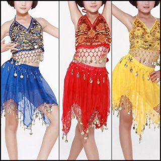 C91911 Kid Girl Adult Belly Dance Daisy Chain Dancewear Costume Top