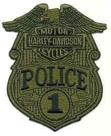 P02H 062E Harley Davidson 1 Police Green Patch