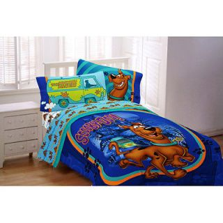 SCOOBY DOO FULL COMFORTER, SHEETS, 5PC. BED IN BAG, NEW