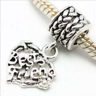 D270A3 Best Friend Pendant Charm European Silver Bead Fit Bracelet