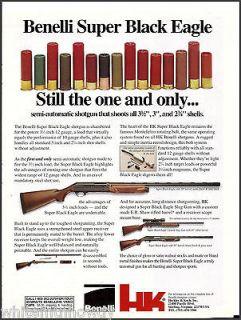 1992 BENELLI Super Black Eagle 12 gauge SHOTGUN Heckler & Koch AD