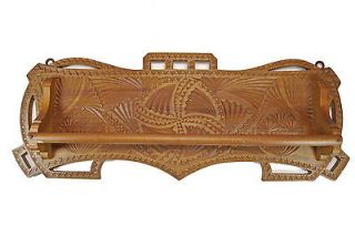Art Deco Frisian Chip Carved Towel or Quilt Rack. Dutch.