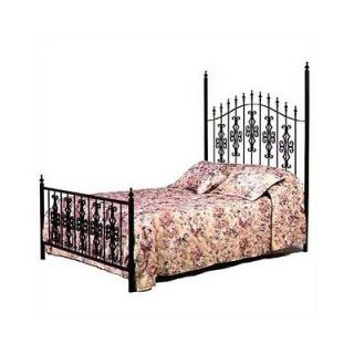 Grace Gothic Wrought Iron Gate Bed with Frame