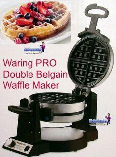 WARING PROFESSIONAL Double Twin Belgian Waffle Maker Iron Breakfast