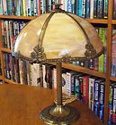Antique Bent Slag Glass Lamp Miller Bradley Hubbard Pittsburgh Empire