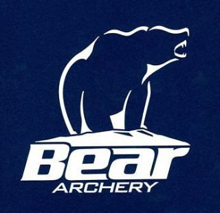 Large White 12 BEAR Archery Decal die cut fishing hunting bow arrows