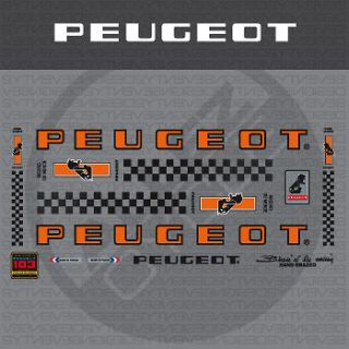 0543 Peugeot Bicycle Frame Stickers   Decals   Transfers