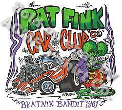 Big Daddy Clothing Rat Fink Tshirt Beatnik Bandit Ed Roth Tee, Sz M L