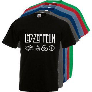 214 Led Zeppelin 2 Rock Music Vintage Tour Cool 6 Colors T shirt S