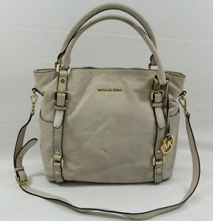 MICHAEL KORS BEDFORD VANILLA LARGE TOTE GENUINE LEATHER AUTHENTIC
