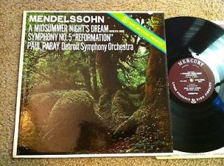 MERCURY LIVING PRESENCE LP MENDELSSOHN a midsummer nights dream PAUL