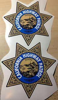 45 CHP CHiPS CALIFORNIA HIGHWAY PATROL Decals stickers PAIR (x2