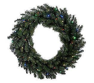 Bethlehem Lights Solutions Battery Operated 30 Wreath w/ LEDs & Timer