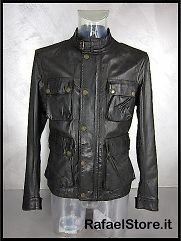 BELSTAFF Mens Jacket 713583 New Brad Jkt Man Antique Black Leather
