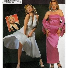 Simplicity 8393 VHTF Marilyn Monroe Dress Gauntlet Costume Pattern