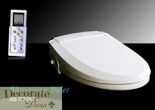ROUND R1063 Electronic Toilet Seat LED + 2 Free Travel Bidets New