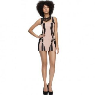 new $ BEYONCE HOUSE OF DEREON BANDAGE ILLUSION ROSE DRESS 6 m (so)