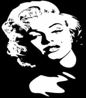Silver Reflective Marilyn Monroe Decal Emblem Badge Sticker Logo For