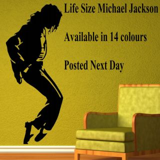 XTRA LARGE MICHAEL JACKSON LIFE SIZE WALL STICKER MURAL ART TRANSFER