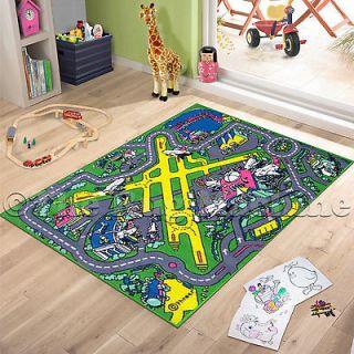 New Ikea Kids Play Mat Rug Road Multicolor