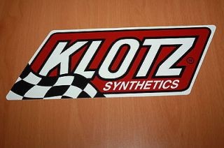 Klotz Oil   Racing, Sticker, Decal   9.5 x 3.25