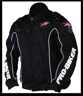 BIKER BLACK MOTORCYCLE RACING JACKET SPORT BIKE SIZE M/L/XL/XXL NEW