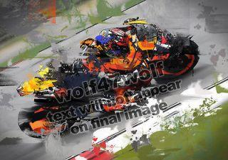 20 ART Casey STONER Repsol HONDA MOTO GP Signed Racing PICTURE Print
