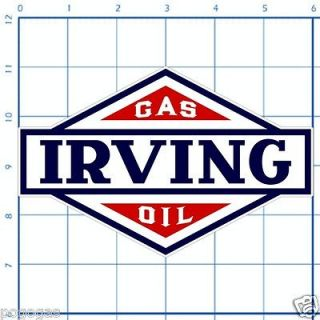 Irving Gas Oil   6 Lubester Decal