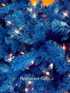 Sapphire BLUE Slim Alaska Christmas Tree 7 Foot Pre lit Clear Designer