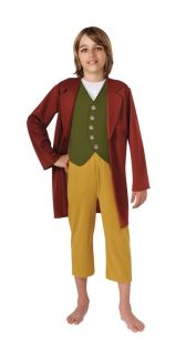 HOBBIT BILBO BAGGINS CHILD COSTUME LARGE 12 14 LICENSED 881460LG