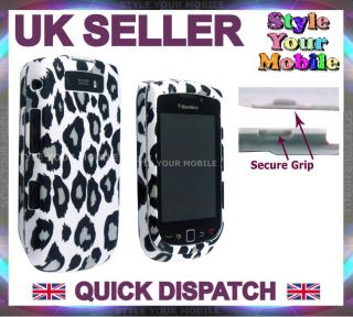 FOR BLACKBERRY TORCH 9800 9810 LEOPARD PRINT FRONT & BACK PROTECTION