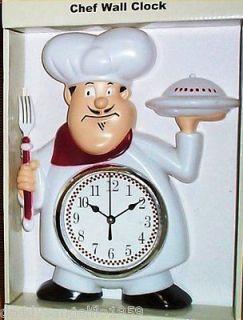 Fat Chef Waiter Wall Clock Bistro Kitchen Bistro Kitchen Decorative