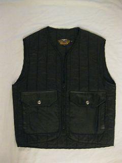 HARLEY DAVIDSON quilted vest mens M nylon snap pockets USA