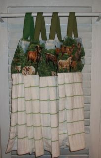 LAMBS FARM HANGING KITCHEN TOWEL OVEN*FRIDGE*CA BINET VELCRO CLOSURE