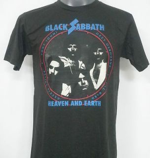 BLACK SABBATH HEAVEN AND EARTH ROCK T SHIRT BLACK SIZE Medium