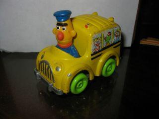 Vintage Sesame Street Bert Character Figure PlaySkool Die Cast School