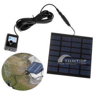 Solar Power Fountain Pool Water Pump Plants Watering