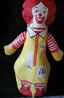 Ronald McDonald blow up doll/punching bag~McDonalds Promo advertising