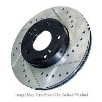 Cross Drilled & Slotted Brake Rotors GM Truck 1500 4WD Rear 2000 11