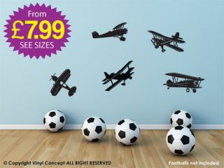 Aeroplane Wall Stickers, Kids Stickers, Wall Art, Decals,Removab le