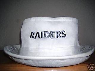 Oakland Raiders Nation ~ WHITE RAIDERS BUCKET HAT * Fishing   Boat