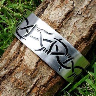 TRIBAL Barb Wire Metal Pewter Bracelet CUFF Bangle