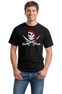 JOLLY ROGER PIRATE FLAG TEE Adult Unisex T shirt. Skull and Crossbones