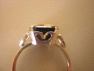 Heart Black Onyx RING 10k Gold Fill 3 4 5 8 10 11 Mason EASTERN STAR