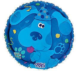 18 Blues Clues Nick Jr. Birthday Party Balloon Mylar Foil Blue