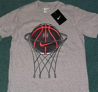 NWT Nike Boys L Gray/Black/Red Basketball Shirt L 14 16