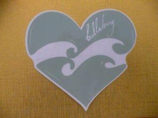 BILLABONG HEART Vintage SURF GIRL Hawaii stickers decals BB92